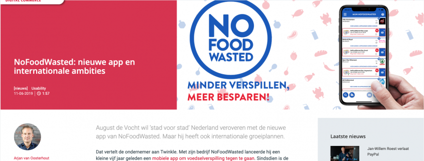 Update je NoFoodWasted app ;-)